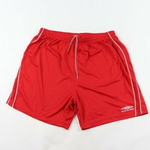 Umbro Spell Out Running Soccer Shorts Red Mens XL